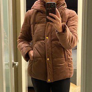 Isaac Mizrahi Blush Velvet Puffer Jacket Size S